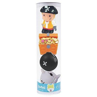 Bichinhos Hora do Banho 4 Peças - Piratas - Buba
