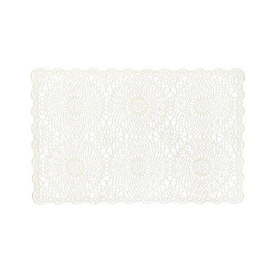 Jogo Americano Crochê Branco - 2 Peças - Mimo Style