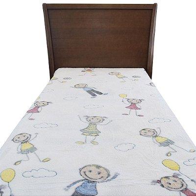 Cobertor em Microfibra Infantil - Menininhos e Menininhas - Sultan