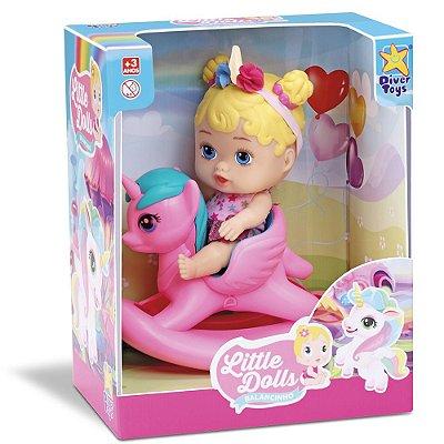 Boneca Little Dolls Balancinho do Unicórnio - Divertoys