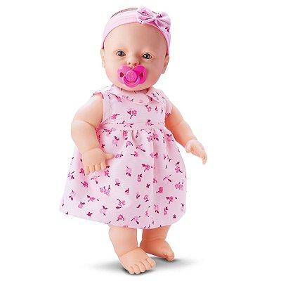 Boneca Baby Fofinha Vestidinho - 106 Frases - Divertoys