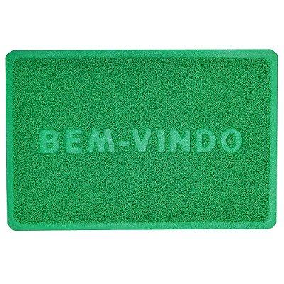 Capacho Bem-Vindo 40cm x 60cm - Verde Bandeira - Camesa
