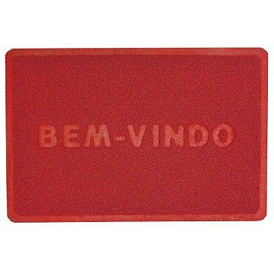 Capacho Bem-Vindo 40cm x 60cm - Vermelho - Camesa