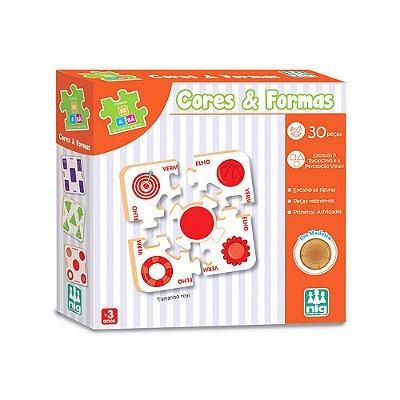 Quebra Cabeça Cores e Formas - 30 peças - Nig Brinquedos