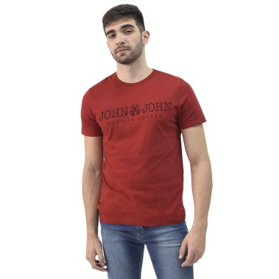 Camiseta Masculina Regular Fit Basic - Vermelha - John John