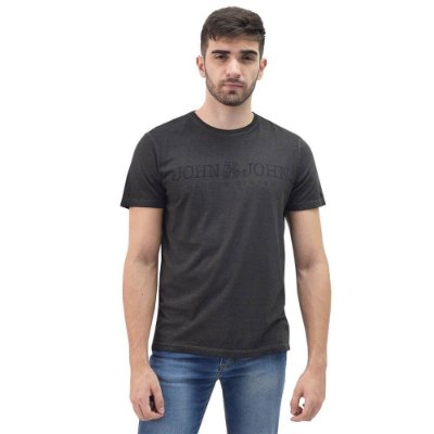 Camiseta Masculina Regular Fit Basic Estonada - Chumbo - John John
