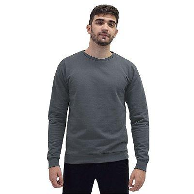 Blusa Moletom Fechado Masculino - Cinza - World Xtreme