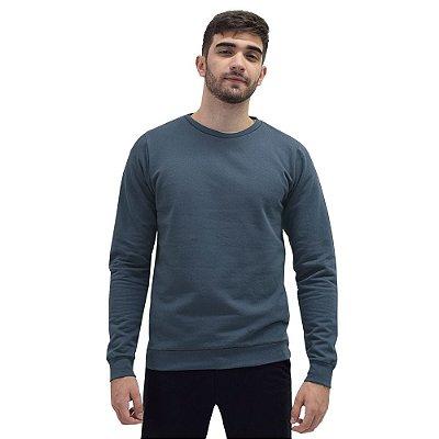 Blusa Moletom Fechado Masculino - Azul - World Xtreme