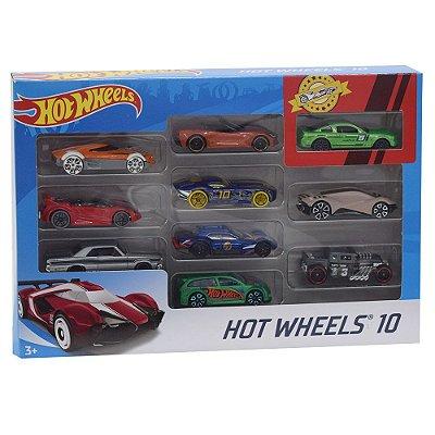 Hot Wheels Pacote 10 Carros - Sportwear - Mattel