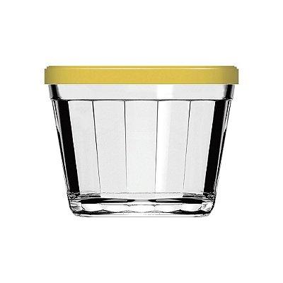 Pote Copo Americano com Tampa Amarela - 150 ml - Nadir
