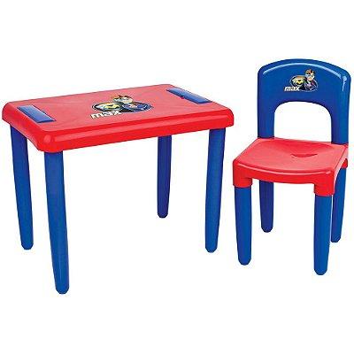 Mesa com Cadeira Max - Azul/Vermelho - Magic Toys