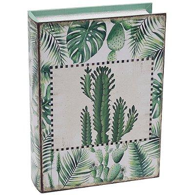 Livro Caixa Decorativa Grande - Cactos - Mart