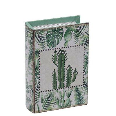 Livro Caixa Decorativa Pequena - Cactos - Mart
