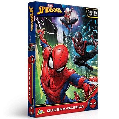 Quebra Cabeça Homem Aranha Marvel - 100 peças - Toyster