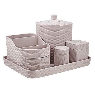 Kit Organizador - 5 peças - Rose - Jacki Design