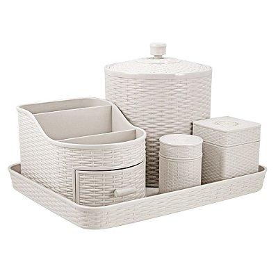 Kit Organizador - 5 peças - Off White - Jacki Design