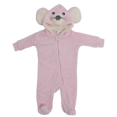 Pijama Fantasia de 3 a 6 meses - Ratinha - Camesa Baby