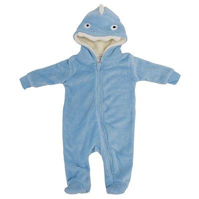 Pijama Fantasia de 3 a 6 meses - Tubarão -  Camesa Baby