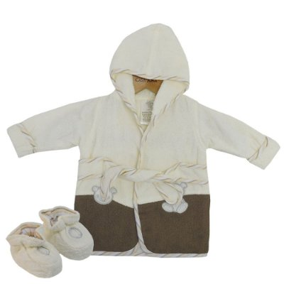 Roupão Baby Com Pantufas - Ursinho - Camesa