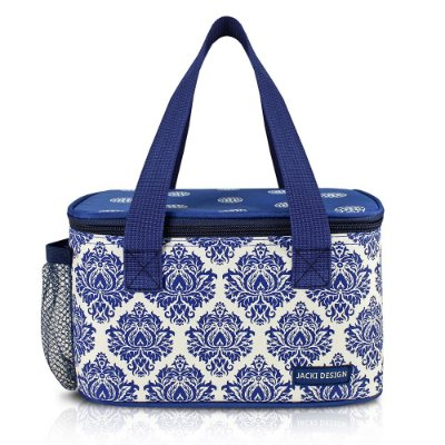 Bolsa Térmica Bella Vitta Retangular - Azul com Estampa - Jacki Desing