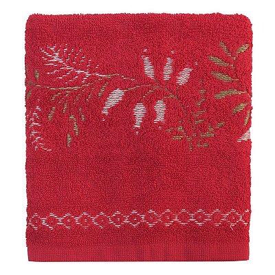 Toalha de Rosto Analu - Vermelha - Karsten