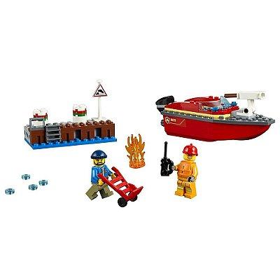 Lego City - Incêndio na Doca - 97 peças - Lego