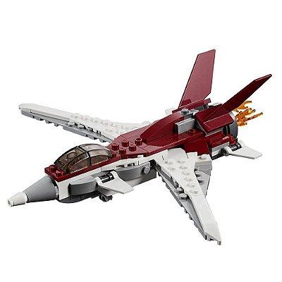 Lego Creator 3 em 1 - Avião Futurista - 157 peças - Lego