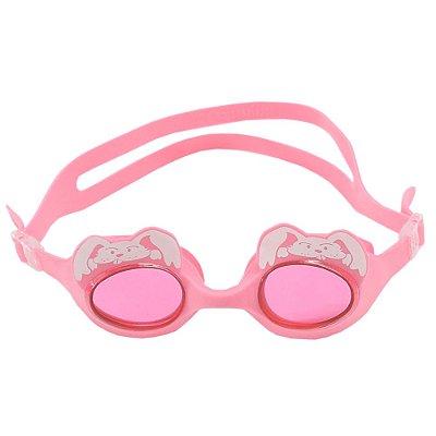 Óculos para Natação Fluffy Júnior - Coelhinho Rosa  - Hammerhead