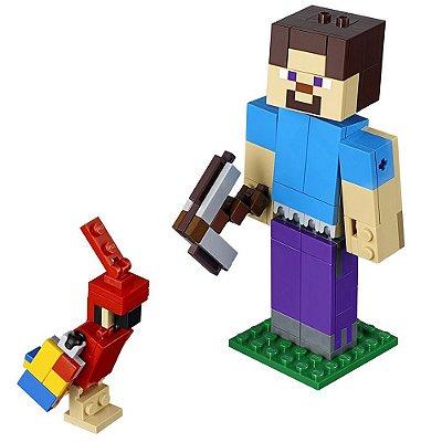 Lego Minecraft - Grande Steve com Papagaio - 159 peças - Lego