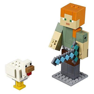 Lego Minecraft - Grande Alex com a Galinha - 160 peças - Lego