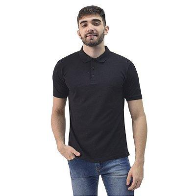Camiseta Polo Confort Básica - Preto - Yacht Master