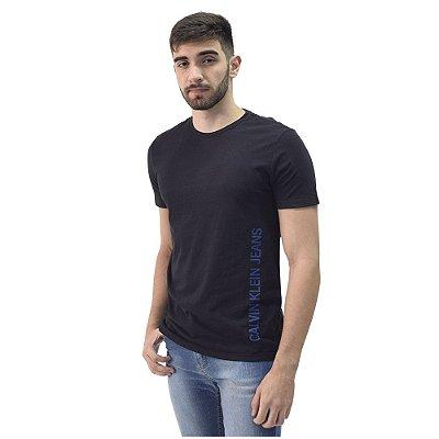 Camiseta Masculina Básica - Preto - Calvin Klein
