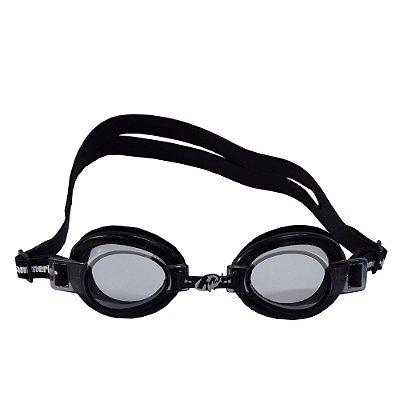 Óculos para Natação Focus Junior 3.0 - Preto e Lentes Escuras - Hammerhead