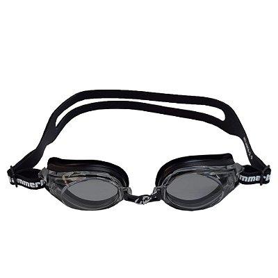 Óculos para Natação Atlanta 2.0 - Preto e Lentes Escuras - Hammerhead