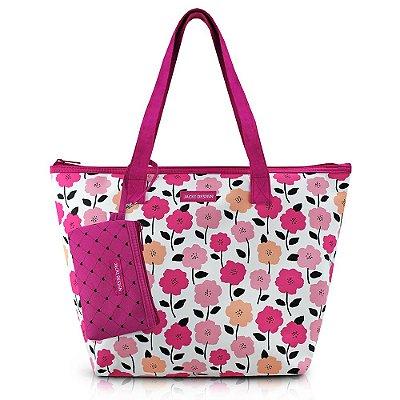Bolsa com Niqueleira -  Pink Love - Pink - Jacki Design