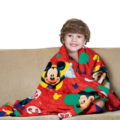 Manta Fleece Infantil - Mickey - Lepper