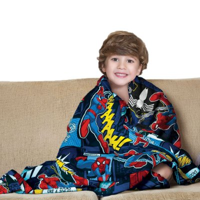 Manta Fleece Infantil - Homem-Aranha - Lepper