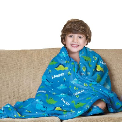 Manta Fleece Infantil - Dinossauro - Lepper