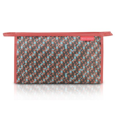 Necessaire Envelope Estampada - City - Coral - Jacki Design