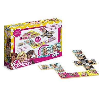 Jogo de Dominó da Barbie - 28 peças - Xalingo