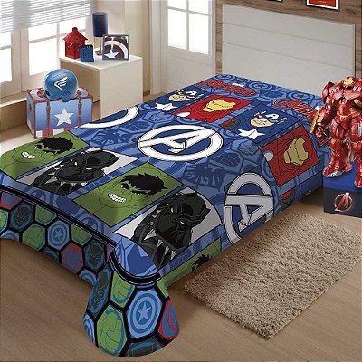 Manta Infantil Microfibra - Avengers - Jolitex Termille