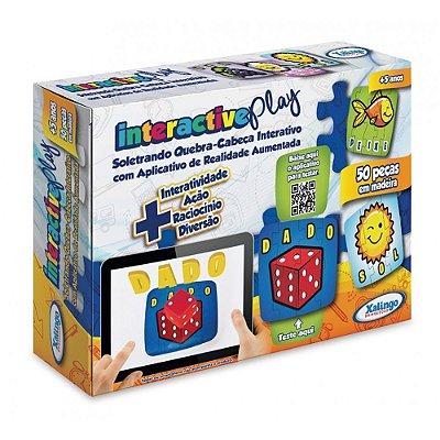 Quebra-Cabeça Interactive Play - Soletrando - 50 peças - Xalingo