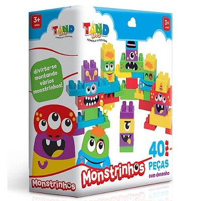 Blocos de Montar Tand Kids - Monstrinhos - 40 Peças - Toyster