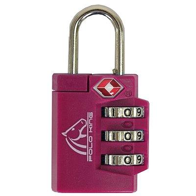 Cadeado Com Segredo TSA Lock - Rosa Escuro - Polo King