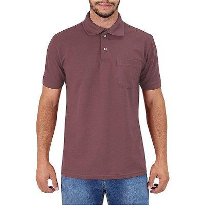 Camisa Polo Masculina - Ameixa - Wayna