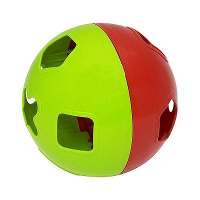 Bola Didática - Verde e Vermelho - Mercotoys