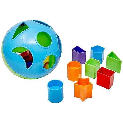 Bola Divertida de Encaixe - Verde e Azul - Multikids