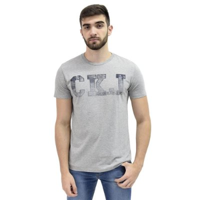 Camiseta Slim Degradê Cinza - Calvin Klein