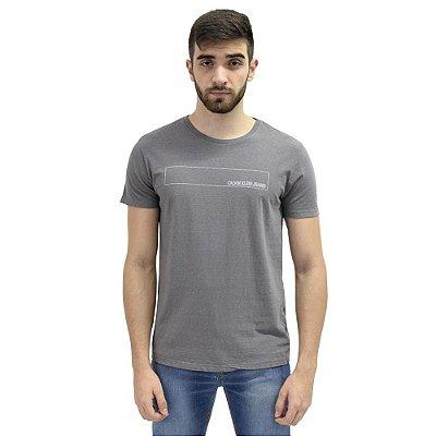 Camiseta Básica Retângulo Cinza - Calvin Klein
