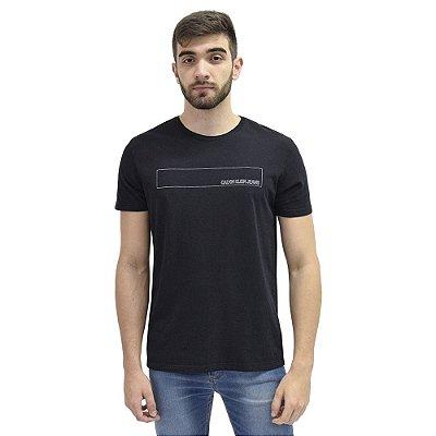 Camiseta Básica Retângulo Preta - Calvin Klein